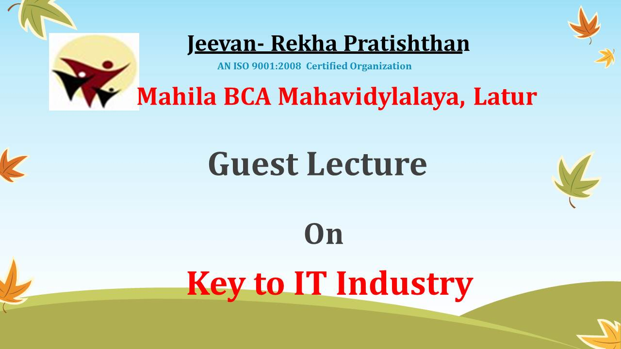 Guest Lecture on Key to IT Industry